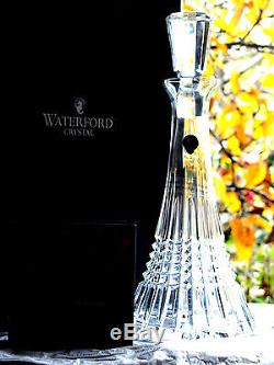 Waterford Crystal Signed Lismore Diamond Decanter, Brand New in Box