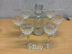 Waterford Crystal Tramore Hock Glasses Set X 6 And Matching Decanter