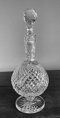 Waterford Glass Heritage Claret Decanter Elegant Signed 12 inch h 25 oz Vintage