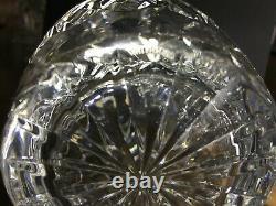 Waterford Irish Cut Crystal 10.5 round spirit decanter ball stopper