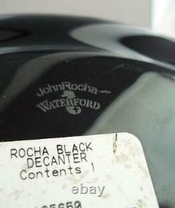 Waterford John Rocha Black Cut Decanter Box Excellent