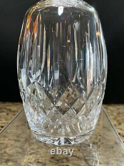 Waterford Lismore Crystal Vertical Cut Whiskey Liquor Decanter Stopper Ireland