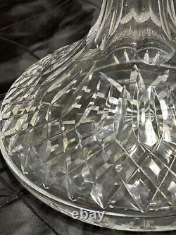 Waterford Lismore Irish Cut Crystal Ships Decanter With Stopper