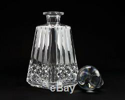 Waterford Lismore Liquor Decanter with Stopper, Angular w Square Base, HTF 10