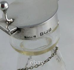 Whisky Tot/noggin & Label Solid Silver And Crystal Glass 1911 & 1913