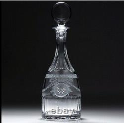 William Yeoward Pearl pattern crystal decanter cut & engraved
