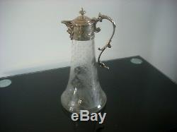 Wine kraft/jug 25cm tall/13cm circumference base. Silver top engraved
